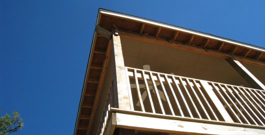 Lakeshore Bunk House soffit