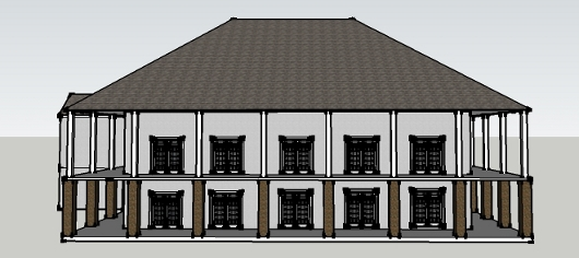 preliminary rendering of the Fellowship Hall