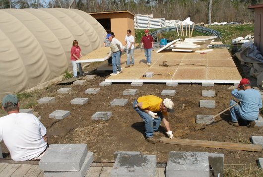 Quonset Huts Get New Floor in Lakeshore Mississippi
