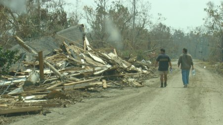 Lakeshore Road after Katrina