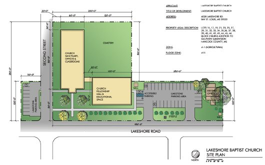 Lakeshore Baptist Church - site plan proposal