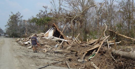 Lakeshore Baptist Church after Hurricane Katrina