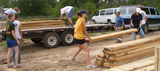 lumber moving