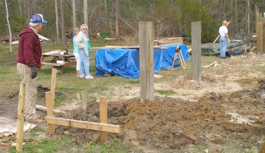 We began setting pilings for another new house last week.