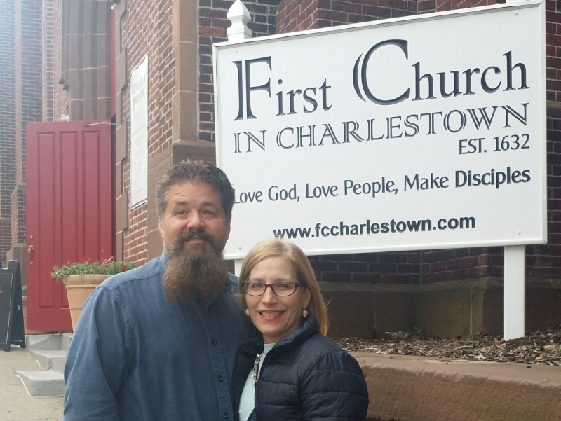 Don and Courtney Elbourne at First Church Charlestown MA