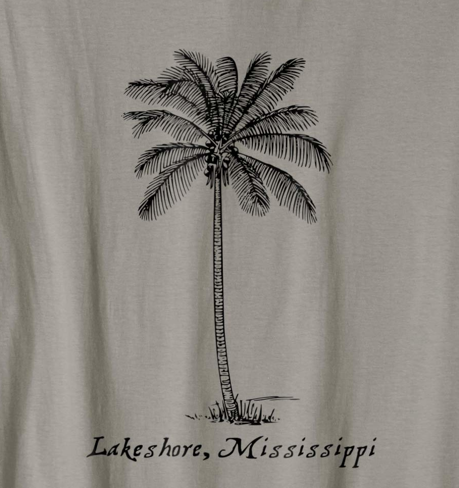 Lakeshore Mississippi with Palm Tree