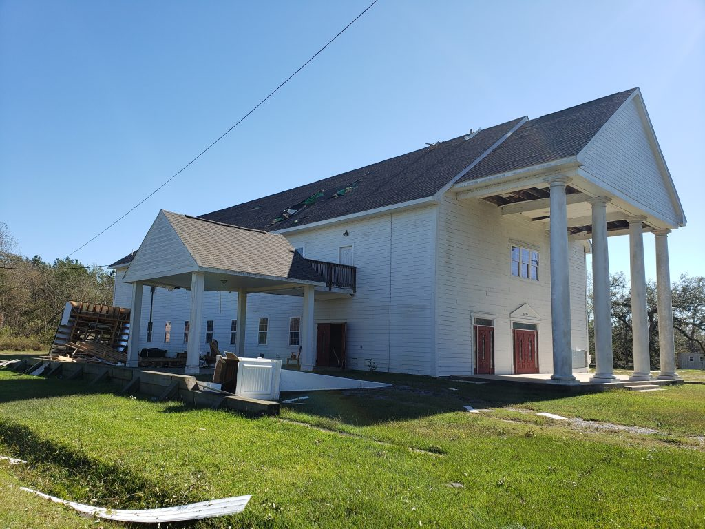 Hurricane Zeta Damages Mississippi Gulf Coast Church Buildings
